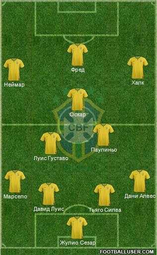 сборной Бразилии.