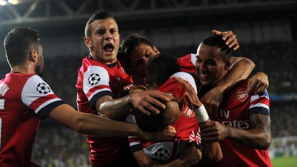 Лига чемпионов-2013/14. Раунд плей-офф. «Фенербахче» — «Арсенал» — 0:3. Хроника событий