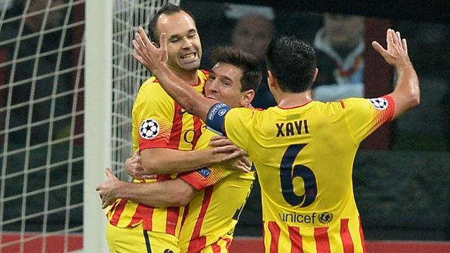 Лига чемпионов-2013/14. «Барселона» — «Милан». Онлайн-трансляция начнется в 23.45