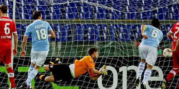 Лига Европы-2012/13. 1/8 финала. «Лацио» — «Штутгарт» — 3:1. «Трюк Козака»