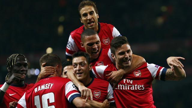 Лига чемпионов-2013/14. Группа «F». «Арсенал» — «Марсель» — 2:0. Хроника событий