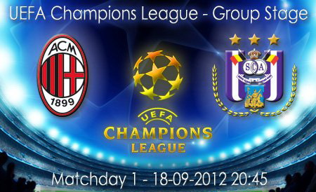 Лига чемпионов – 2012/2013. Группа «С». «Милан» — «Андерлехт» — 0:0. «Сенсация на Сан-Сиро»