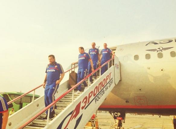 ЦСКА прибыл в Ростов-на-Дону