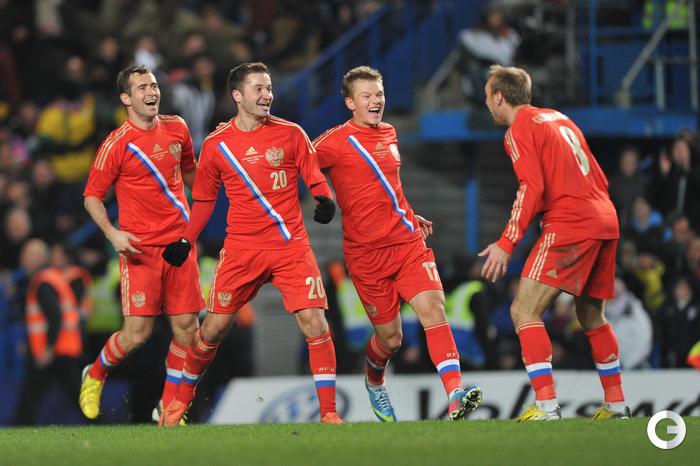 Сборная России осталась на 11-м месте в рейтинге ФИФА