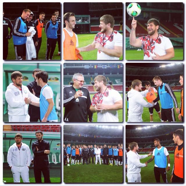 Рамзан Кадыров подарил Жонатану Лежару свой спортивный костюм (ФОТО)