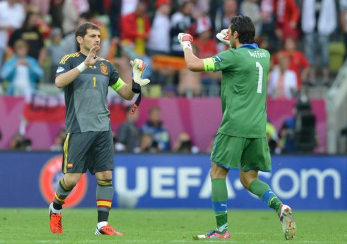 Касильяс и Буффон похвалили друг друга перед финалом Евро