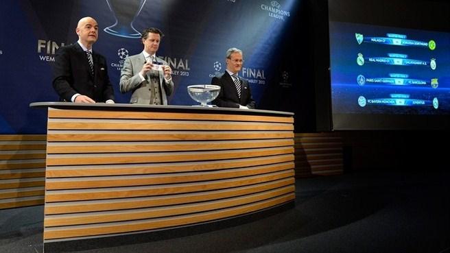 Лига чемпионов-2013/14. Жеребьевка 1/8 финала. Онлайн-трансляция начнется в 15.00