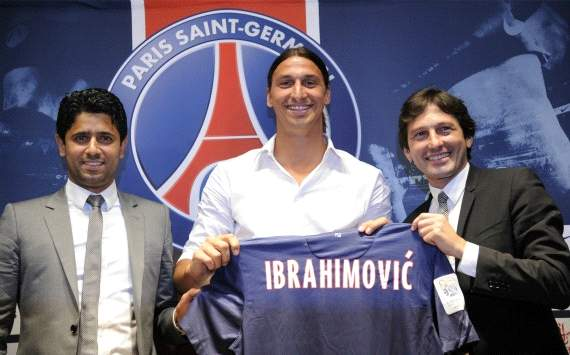 Ibrahimovic signed a three-year deal with PSG