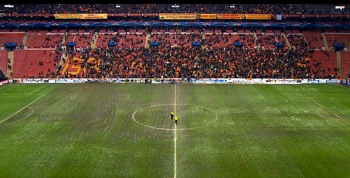 «Галатасарай» обвиняют в умышленной порче газона перед доигровкой матча с «Ювентусом» (ФОТО)