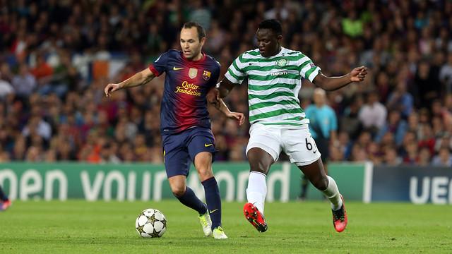 Лига чемпионов-2013/14. «Селтик» — «Барселона» — 0:1. Хроника событий