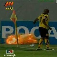 Во время матча азиатской Лиги чемпионов на поле взорвалась граната