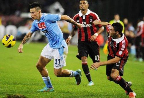 Итальянская Серия А. «Милан» — «Наполи». Онлайн-трансляция начнется в 22.45