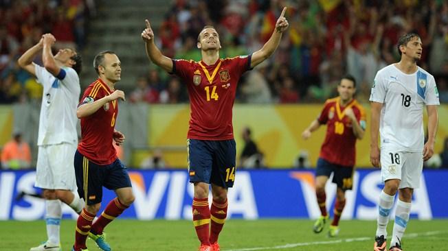 Кубок конфедераций. Группа «B». Сборная Испании обыграла команду Уругвая