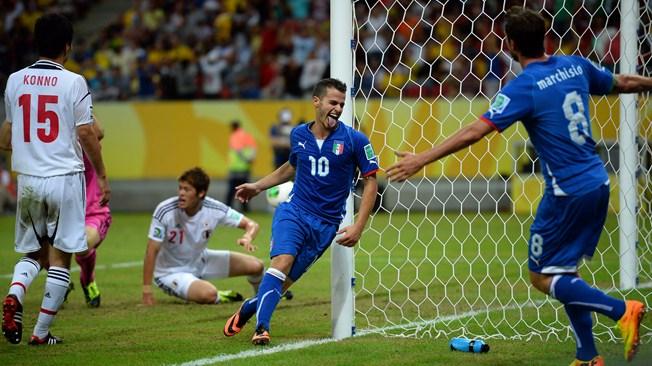 Кубок конфедераций. Групповой этап. Сборная Италии вырвала победу в матче с командой Японии