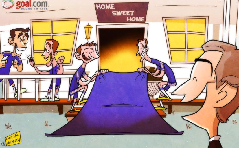 Карикатура. «Челси» готовится встречать Моуринью