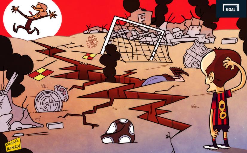 Карикатура. Моуринью, который разрушил испанский футбол