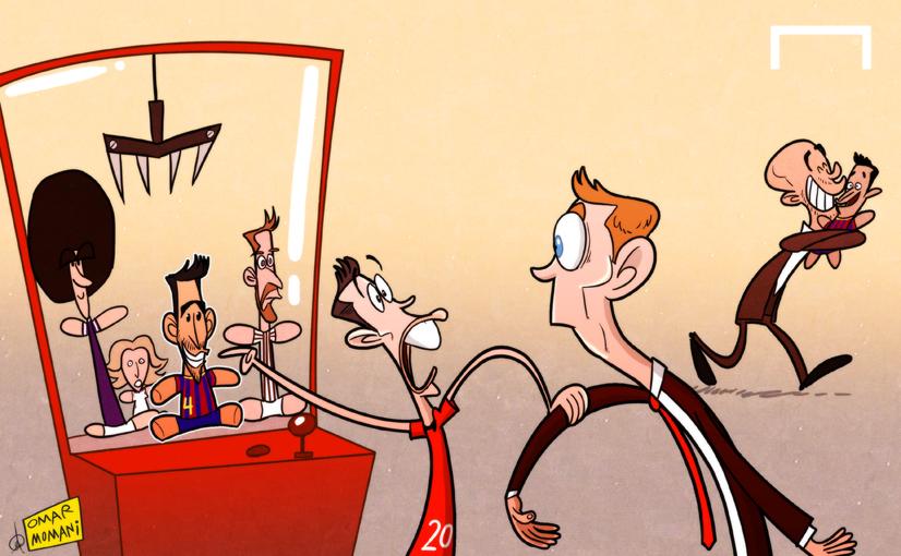 Лучшая карикатура дня. Ван Перси жаждет воссоединиться с Фабрегасом