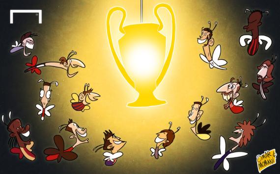 Лучшая карикатура дня. Европейские топ-клубы начинают охоту за трофеем Лиги чемпионов