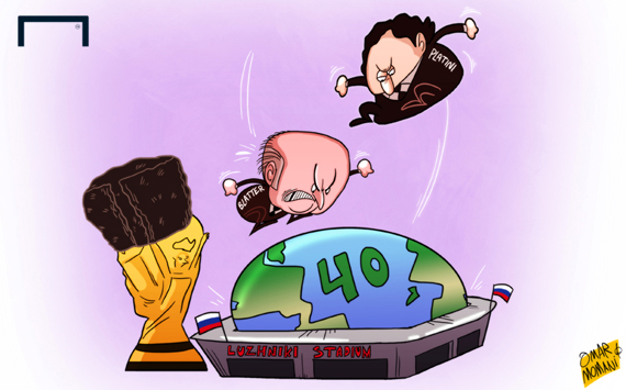Лучшая карикатура дня. Платини и Блаттер расширяют чемпионат мира