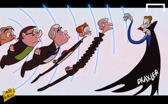 Лучшая карикатура дня. Драксула: звезда «Шальке-04» гипнотизирует тренеров топ-клубов