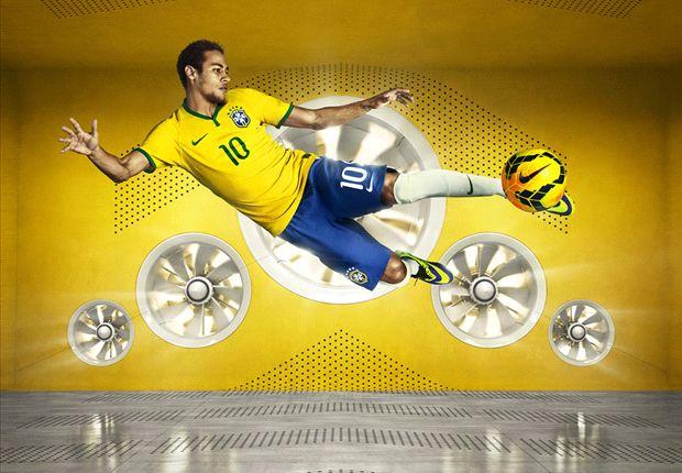 Сборная Бразилии презентовала новую форму на ЧМ-2014 (ФОТО)
