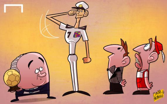 Лучшая карикатура дня. Роналду — фаворит на получение «Золотого мяча»