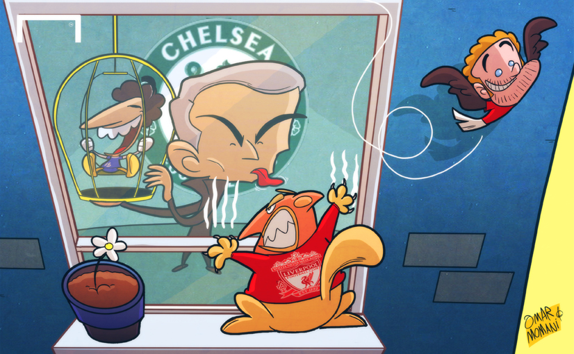 Лучшая карикатура дня. Моуринью увел Сала из-под носа у «Ливерпуля»