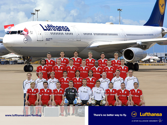 Bayern sings a new sponsorship deal with Lufthansa