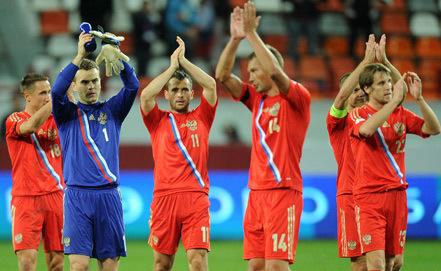 Чемпионат мира-2014. Сборная России сыграла вничью с азербайджанцами и заняла первое место в группе
