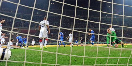 Товарищеские матчи. Италия  —  Германия — 1:1. Хроника событий