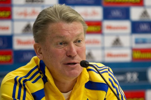 Блохин назвал имена 23-х футболистов, готовящихся к матчу с Чехией