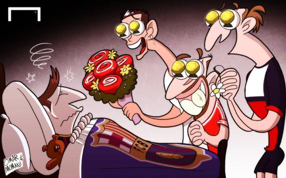 Лучшая карикатура дня. Травма Месси открывает соперникам дорогу к «Золотому мячу»