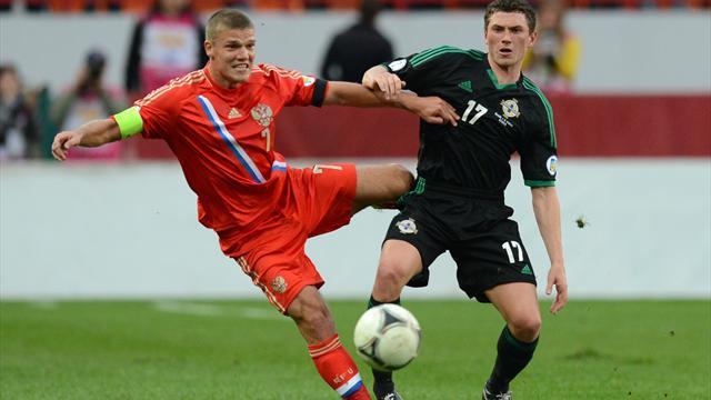 Стал известен список футболистов, попавших в заявку сборной России на матч с командой Северной Ирландии