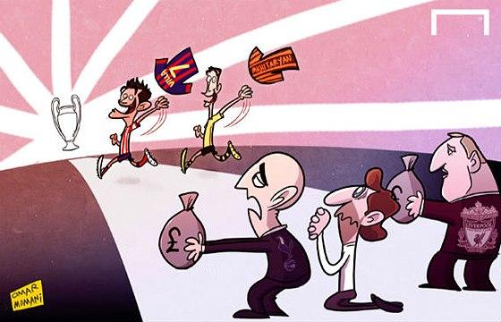 Лучшие карикатуры уик-энда. Трансферные «войны» продолжаются
