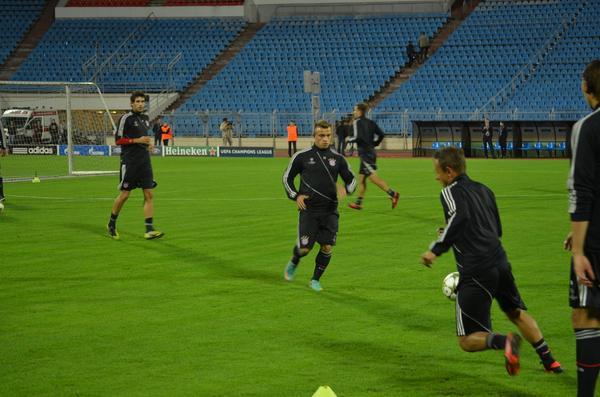 «Бавария» провела тренировку на стадионе «Динамо»