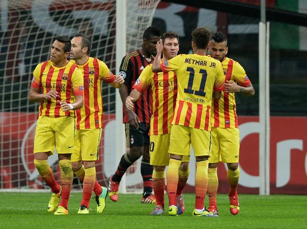 Лига чемпионов-2013/14. «Барселона» — «Милан» — 3:1. Хроника событий
