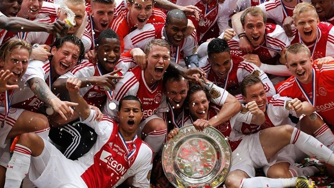 Ajax crowned Netherlands champions for the third consecutive time