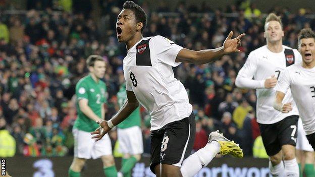 World Cup qualification results: Europe. Republic of Ireland 2-2 Austria