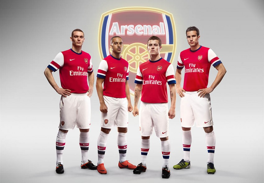 Arsenal launched new home and away kits for the 2012/2013 season