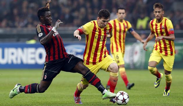 Лига чемпионов-2013/14. «Милан» — «Барселона» — 1:1. Хроника событий