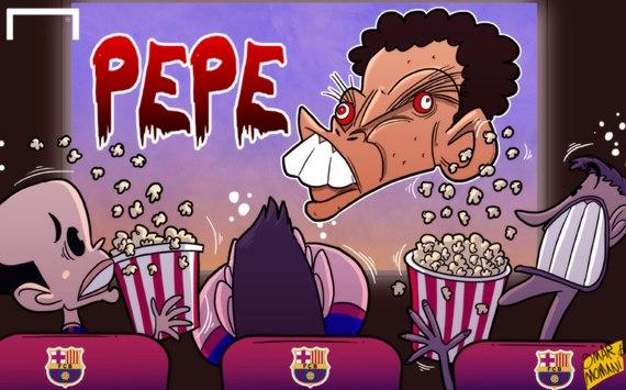 Лучшая карикатура дня. Кошмар Месси, Неймара и Иньесты в матче с «Реалом»