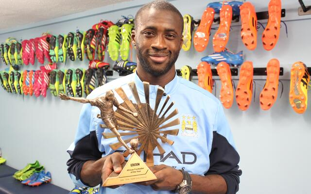 Яя Туре признан футболистом года в Африке по версии BBC (ФОТО)