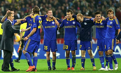 BATE Borisov claimed the Belarusian title for the 9th time