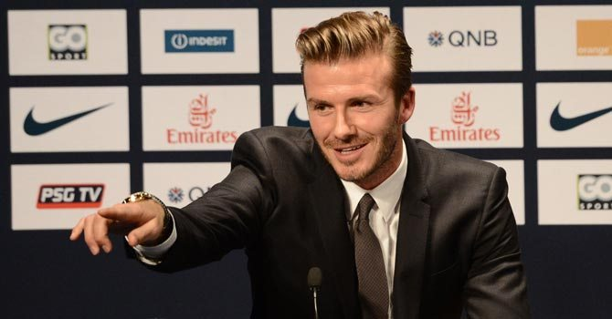 Beckham announced retirement from football