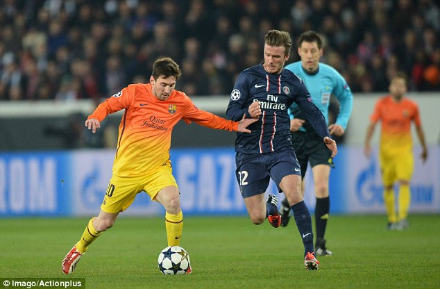Beckham hopes PSG beat Barcelona despite a 2-2 draw at home
