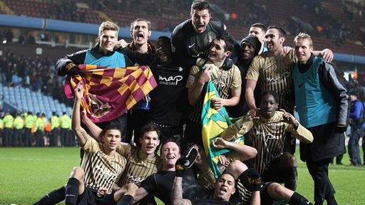 Fourth tier Bradford are through to the Capital One Cup Final!