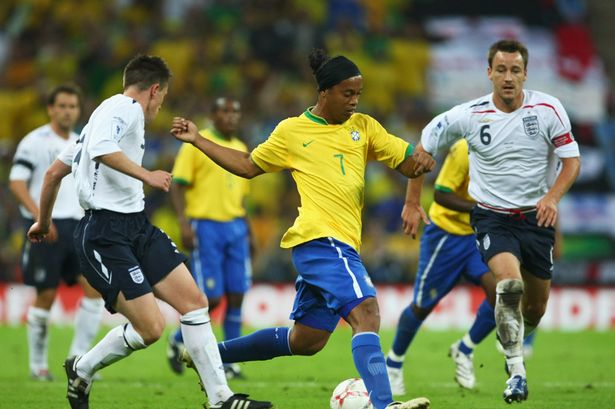 """Ronaldinho: """"I would get Rooney and Ashley Cole in the Brazil team"""""""
