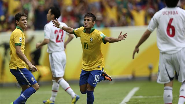 Confederations' Cup results: Neymar on song, as Brazil beat Japan