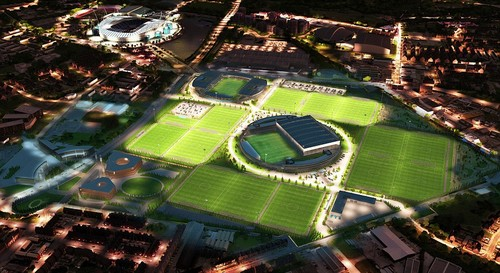 Началось строительство футбольного комплекса «Манчестер Сити»