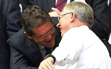 Capello admires Barca, Ferguson says it is time for goal line technology